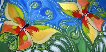 SirK - Flattering Acrylic on Canvas, Paintings