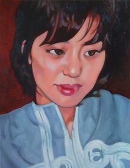 Takumi Kata (TAKU) - Just Day Dreaming Oil on Canvas, Paintings