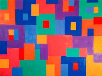 Mario España - Downtown Crossing Oil on Canvas, Paintings