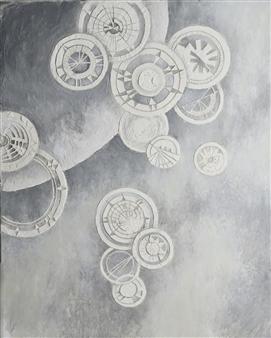 Nobuko Saji - Stardust II Acrylic & Mixed Media on Canvas, Mixed Media