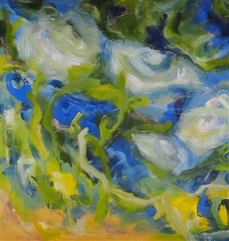 Sari Moilala - Blossom Acrylic on Canvas, Paintings
