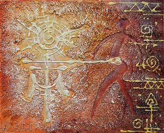Alagir - Mythology Of The Spirit Oil on Canvas Board, Paintings