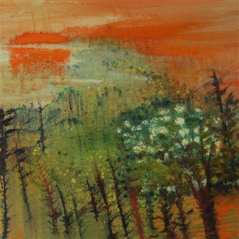 Else Husted Kjær - Spring Time Far Away Oil on Canvas, Paintings