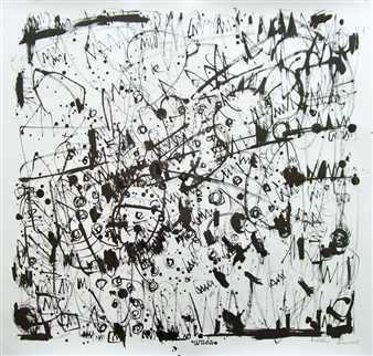 Ken Wada - Where is the Soul of the Trees? No.83 India Ink on Paper, Drawings