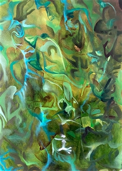Tringa Khadija - Inner Peace Oil on Canvas, Paintings