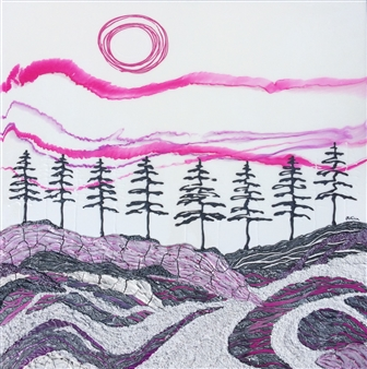 Patricia Gray - Ice. Wind. Sky. Acrylic on Birch, Paintings
