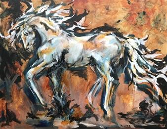 Margaret Culver - Foxfire Acrylic on Canvas, Paintings