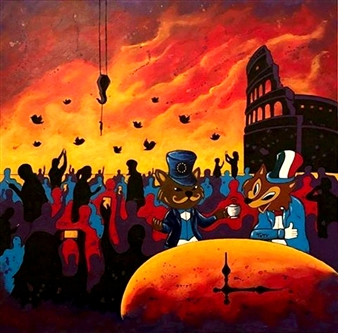 Salvatore Petrucino (Totó) - 21st Century Acrylic on Canvas, Paintings