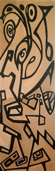 MaskOfWorro  - Serpentine Acrylic with Satin Varnish Polymer, Paintings
