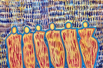 Sierra Barnes - Living Our Truth Acrylic on Canvas, Paintings