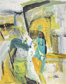 Pauline Rakis - Confetti Acrylic on Canvas, Paintings