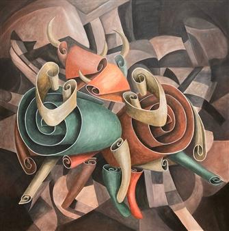 Don Kosta - Minoa Acrylic on Canvas, Paintings