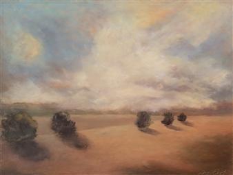 Margret Carde - Volunteers Oil Pastel on Panel, Paintings