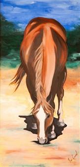 Francisco Coronel Gándara - Untitled #4 Oil on Wood, Paintings