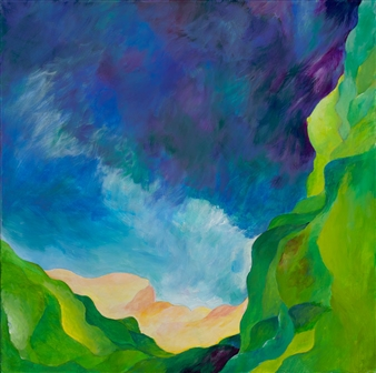 Jerry Anderson - Emerald Cliffs Acrylic on Canvas, Paintings
