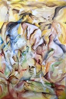 Tringa Khadija - Murmures Oil on Wood, Paintings