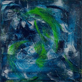 Anna K Art Katja van den Bogaert - Water Digs Acrylic on Linen, Paintings