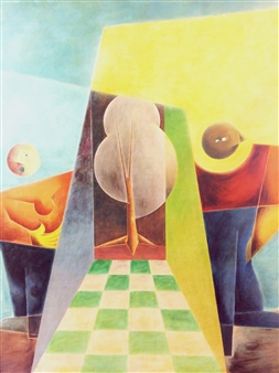 Julio Lopez Vietri - Exploring Grounds Mixed Media on Canvas, Mixed Media