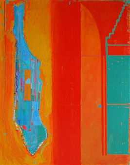 Ashley Hanson - City of Glass 2 – (Hotel Harmony) Oil on Canvas, Paintings