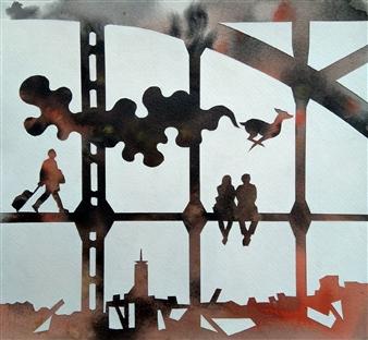 vgvenu - Transit - 50 Watercolor on Paper, Paintings