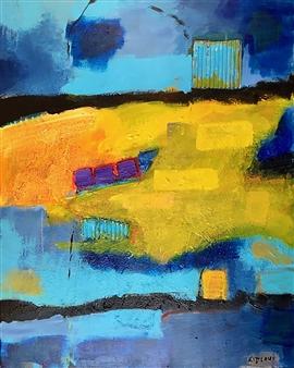 Paul Kittlaus - Untitled #204 Mixed Media on Canvas, Mixed Media