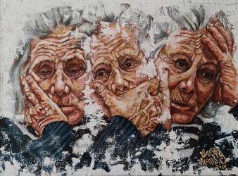 Vanessa Vilchis - Incertezza Estesa Oil on Canvas, Paintings