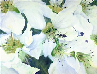 Jonathan Mann - Asian Pear Ant Acrylic on Canvas, Paintings