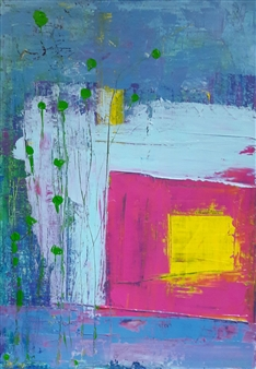 Claudia Mini - Give Me a Title Acrylic on Canvas, Paintings