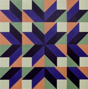 Osvaldo Bacman - The Mystery of Geometry #17 Acrylic on Canvas, Paintings