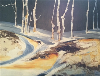 D. L. Brabander - Spring Thaw 1 Acrylic on Canvas, Paintings