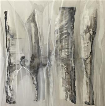 Graciela Garza - Trunk Life 3 Acrylic & Mixed Media on Canvas, Mixed Media