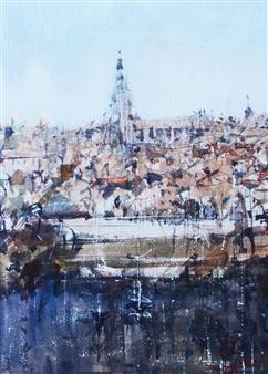 Alejandro Miras - Alzado Watercolor, Paintings