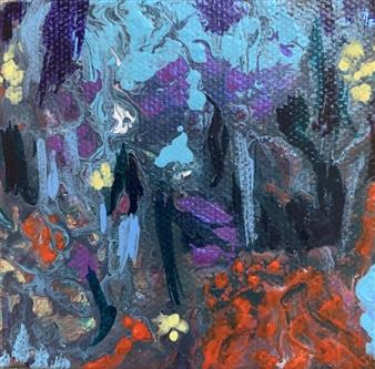 Jodi DeCrenza - Red Fairytales Acrylic on Canvas, Paintings