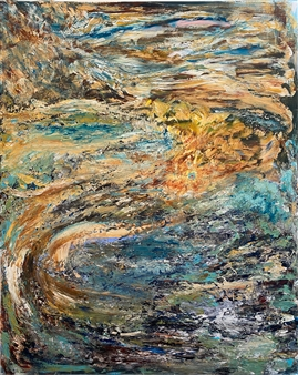 David Lionheart - Infinite Peacock Acrylic on Canvas, Paintings
