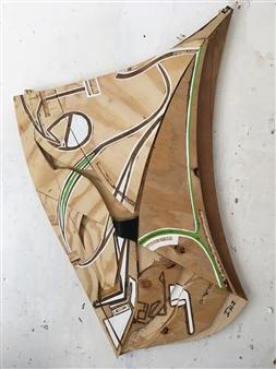 Craig Freeman - Mankind Wood , Acrylic Rubber, Sculpture