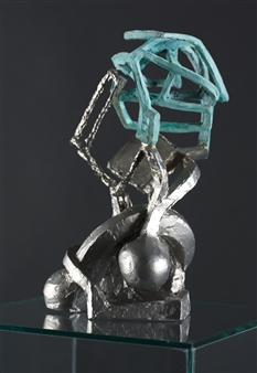 Attila Mata - Small Female Torso Stainless Steel, Bronze, Sculpture