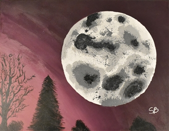 Sylvain Boisjoly - Luna Grande Acrylic on Canvas, Paintings