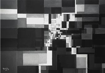 Dan Aug - Digitalization of Infinite Oil on Canvas, Paintings