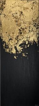Konka - Golden Stillness 2 Acrylic on Canvas, Paintings
