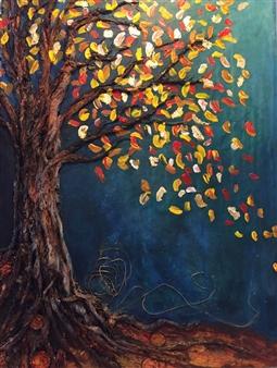 Tiffany Reid - Equinox Acrylic & Mixed Media on Canvas, Mixed Media