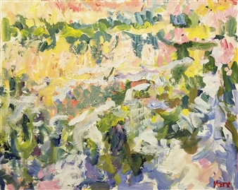 Susan Marx - Grasses by the River Newark Acrylic on Masonite, Paintings