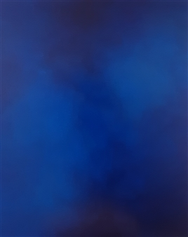 Jennifer Morris - Isolated Blue Acrylic on Canvas, Paintings