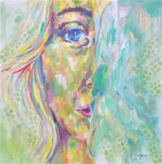 Grady Zeeman - Half of Me Oil on Canvas, Paintings