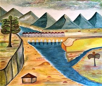 Merab Kardava - Island of Love! Oil on Canvas, Paintings