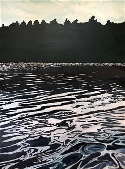 Gabriella Mirabelli - Summer: Black Water at Mohonk Acrylic on Canvas, Paintings