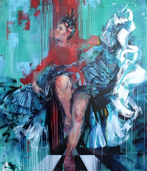 Daniella Queirolo - Her Majesty 2 Oil on Canvas, Paintings