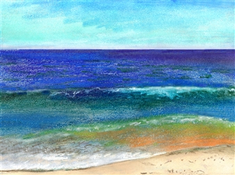 Michael Victor ▪ MVR - Fire Island National Seashore_Sandy Atlantic Open Ocean Mixed Media Digital Print, Mixed Media