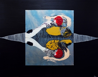 Taia Bene - Reflection Acrylic on Board, Paintings