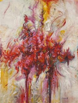 Stacie Hernandez - Absorbiendo el Aroma Oil on Linen, Paintings