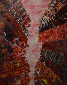 Caspar Baum - New York Oil on Canvas, Paintings